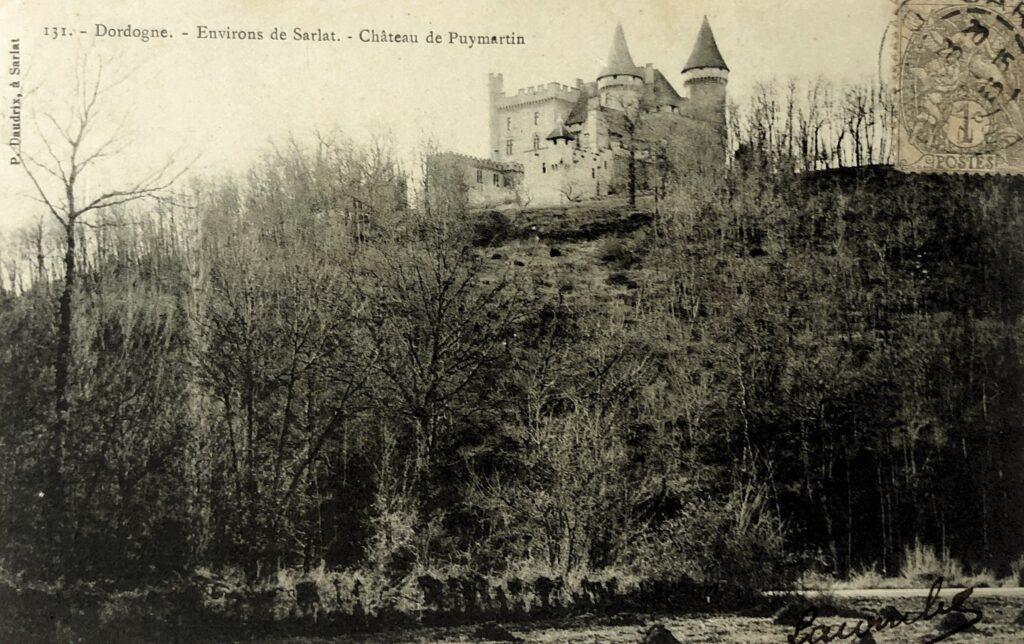 Photo d'époque du château de Puymartin