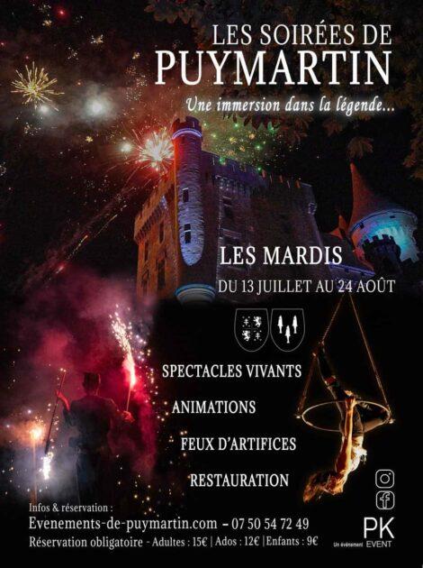 Soirées festives et animées au chateau de Puymartin
